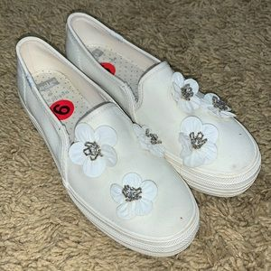 New with spots.  Kate Spade/Keds 6 wedding sneaker